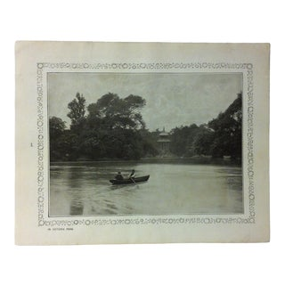"""1906 """"In Victoria Park"""" Famous View of London Print For Sale"""