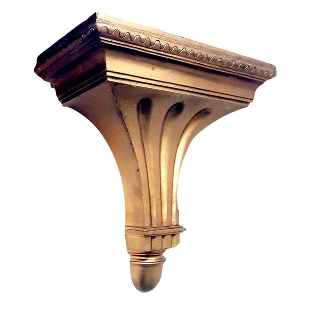 Federal Style Giltwood Wall Shelf / Corbel For Sale