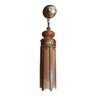 Mid-Century John C. Virden Bohemian Swag Pendant Light Chandelier For Sale