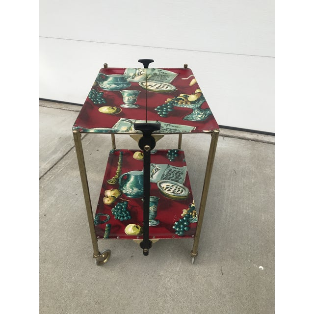 1960s German Still Life Print Bar Cart For Sale - Image 12 of 13