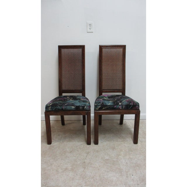 1980s Henredon Scene One Campaign Dining Room Side Chairs ...
