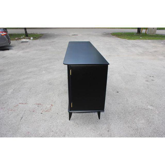 Beautiful Vintage French Art Deco Ebonized Sideboard / Buffet 1940s - Image 5 of 11
