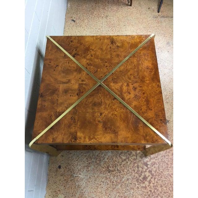 Milo Baughman Burlwood Side Table - Image 5 of 8
