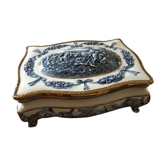 Blue & White Porcelain Box - Image 1 of 5