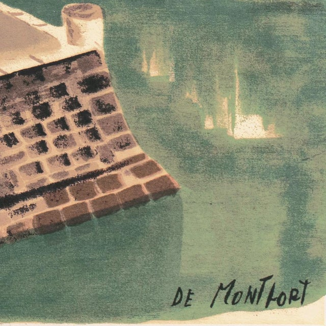 Signed lower right, 'De Montfort' and printed circa 1950 by F.A.R. Gallery for Rudolf Lesch Fine Arts Inc., New York.