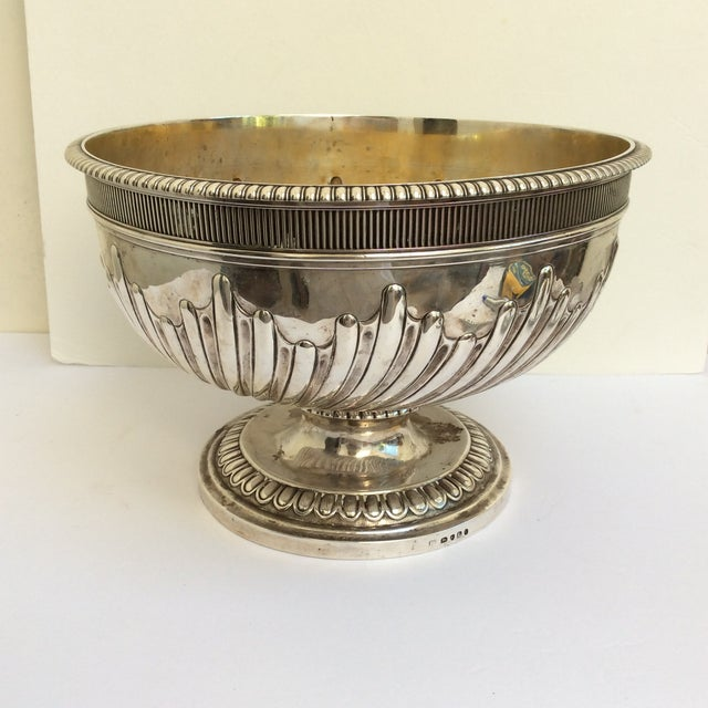 Antique English Sterling Silver Punch Bowl For Sale - Image 9 of 11