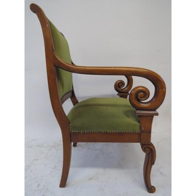 1950s Director Chair With Curved Arms For Sale - Image 5 of 10