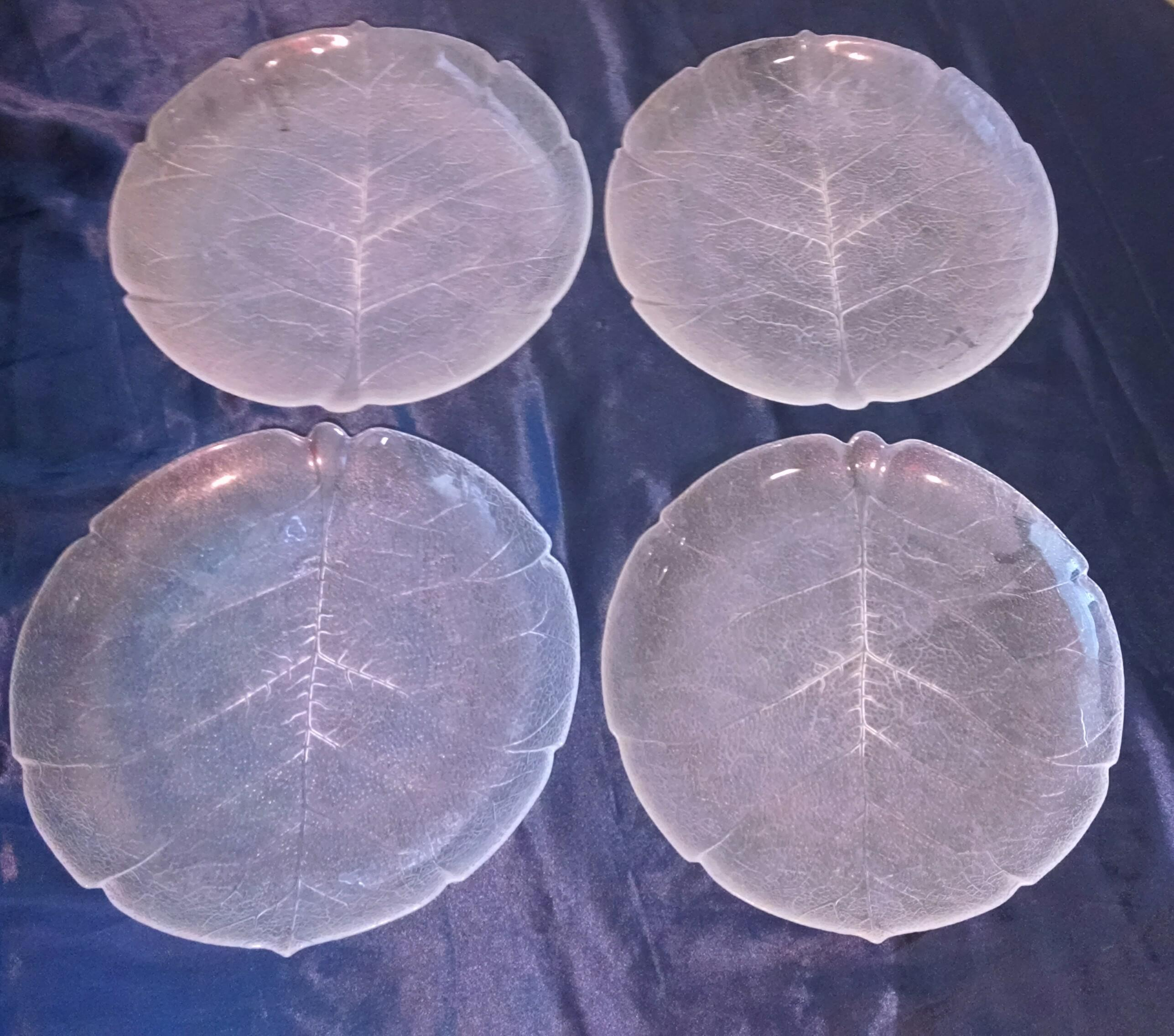 Arcoroc Aspen Leaf Clear Glass 11-Inch Dinner Plates - Set of 4 - Image : arcoroc aspen dinnerware - pezcame.com