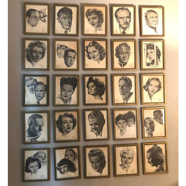 Framed Portraits of Oscar Winners From 1928-1961 - Set of 25 For Sale - Image 10 of 10