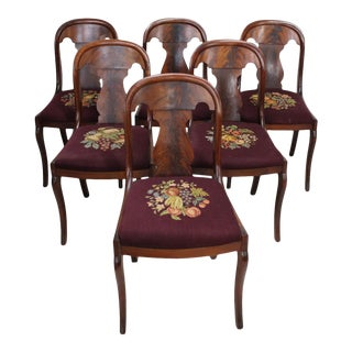 19th Century American Empire Side Chairs - Set of 6 For Sale