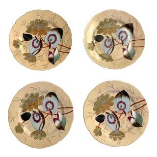 Vintage Asian Floral Plates- a Set of 4 For Sale