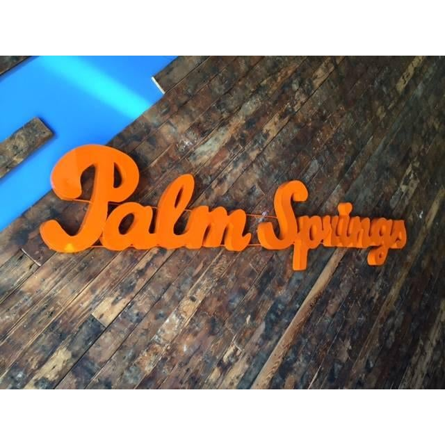 Industrial Orange Palm Springs Metal Sign - Image 3 of 3