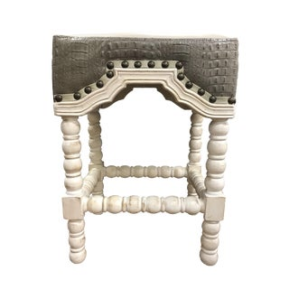 Grey Croc Bar Stool For Sale