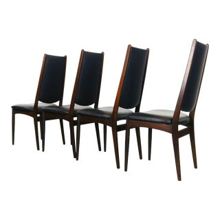 Rosewood Danish Modern Dining Chairs - a Set of 4, Denmark For Sale