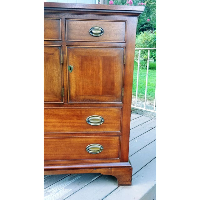 1966 Biedermeier Craftique Solid Mahogany Sideboard Buffet For Sale - Image 10 of 13