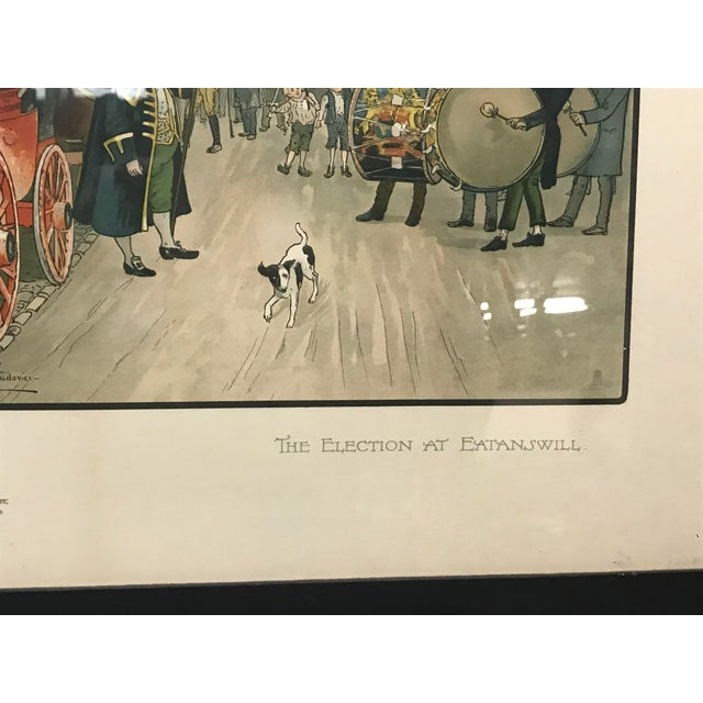 Mid 20th Century Vintage Mid-Century British Election Day Lithograph Print For Sale - Image 5 of 8