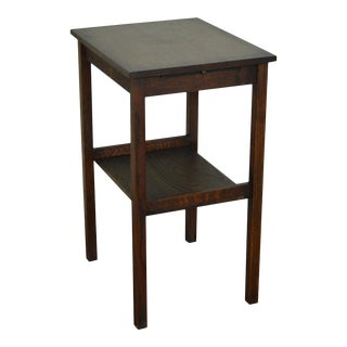 Antique Mission Oak Side Table For Sale