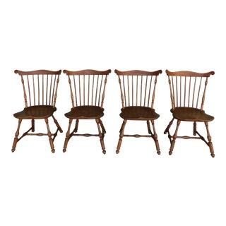Walter Steely Vintage Philadelphia Style Windsor Fan Back Chairs - Set of 4 For Sale