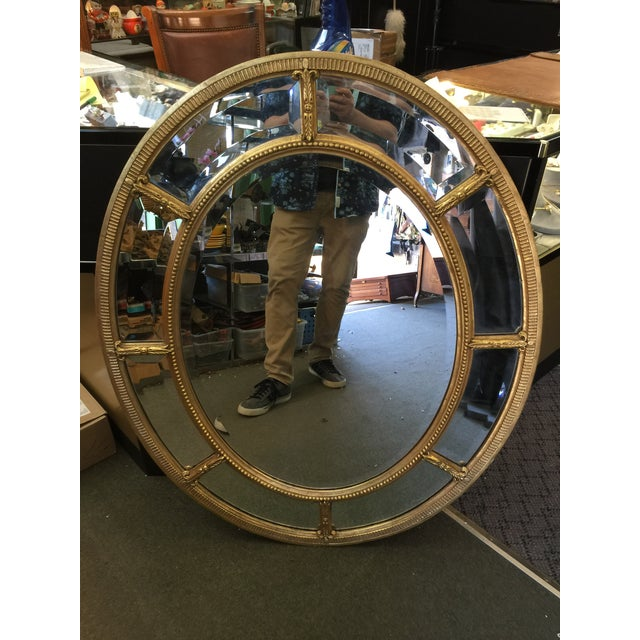 Gold Oval Gold Mirror For Sale - Image 8 of 8