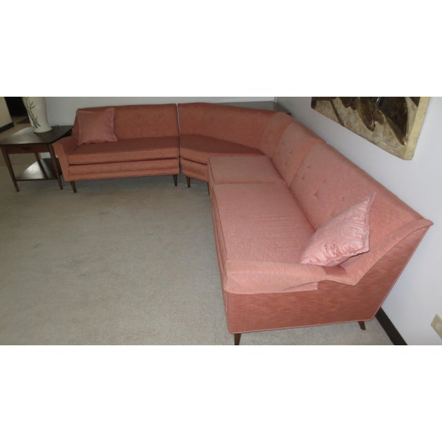 Mid 1960s 4-Piece Sectional with Corner Table - Set of 5 - Image 2 of 5