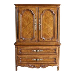Late 20th Century French Provincial Drexel Heritage Cabernet Collection Door Chest For Sale