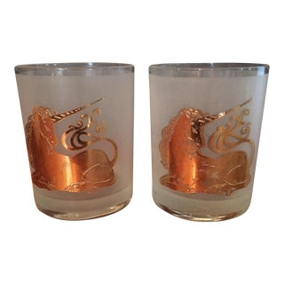 Vintage Unicorn High Ball Glasses - Set of Two