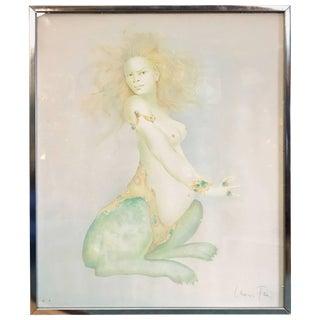 "Surrealist Nude ""Spinx"" Color Lithograph by Leonor Fini For Sale"