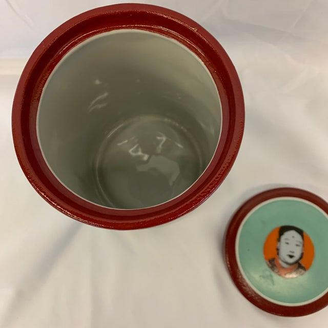 Ceramic Fabienne Jouvin Paris Pop Art Ceramic Tea Jar For Sale - Image 7 of 11