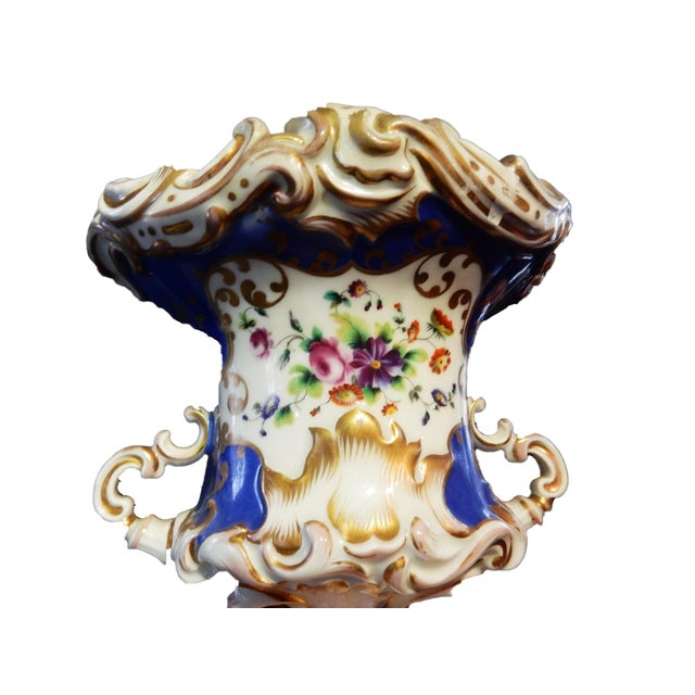 Antique 19th Vieux Paris Vase - Image 2 of 11
