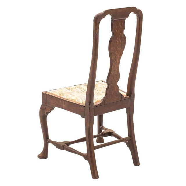 English Traditional Antique English Queen Anne Chair For Sale - Image 3 of 6 - Antique English Queen Anne Chair Chairish