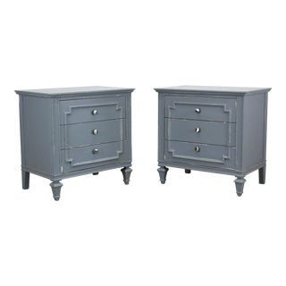 Mid Century Modern 3-Drawers Nightstands, a Pair