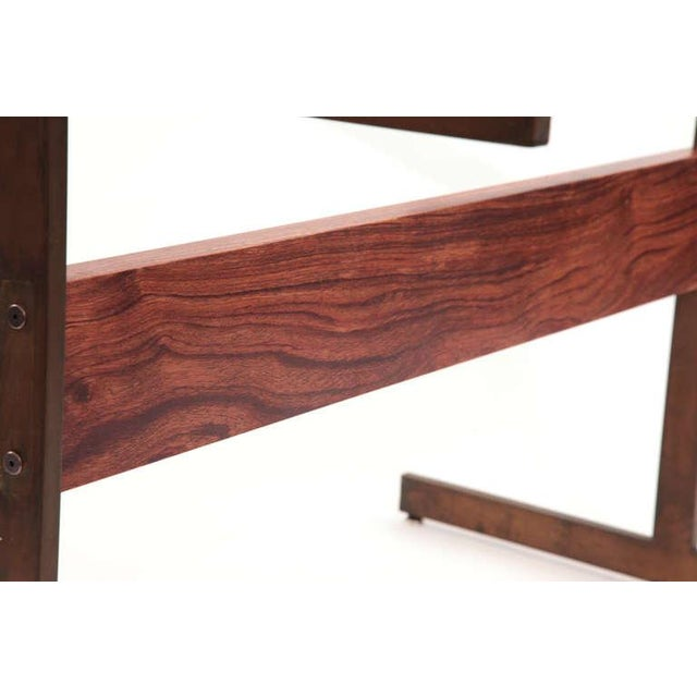 1960s Milo Baughman Bronze and Rosewood I Beam Dining Table For Sale - Image 5 of 6