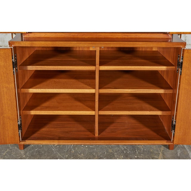 Neoclassical Mahogany and Faux Parchment Media Cabinet For Sale - Image 9 of 13