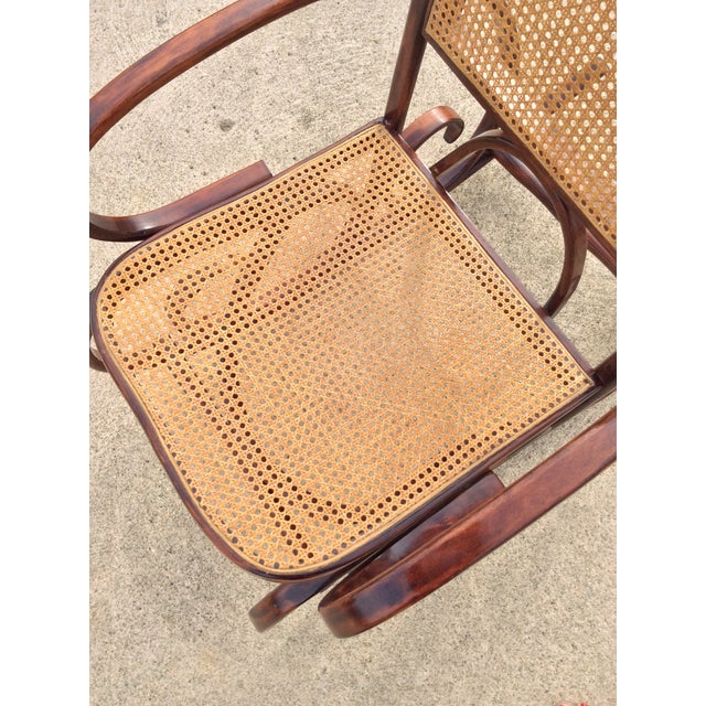 Mid Century Luigi Crassevig Thonet Style Bentwood Rocker For Sale In Columbus - Image 6 of 12