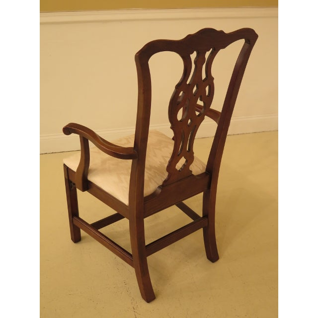 Chippendale Ethan Allen Knob Creek Cherry Dining Room Chairs