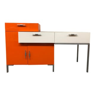 Mid Century Style Modular 2pc Desk Unit For Sale
