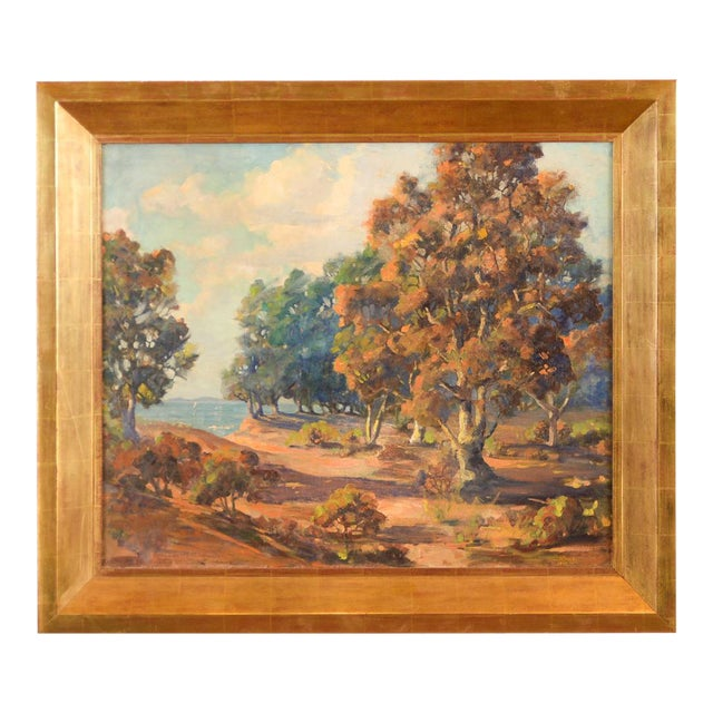 Impressionist Horatio Nelson Poole Large California Landscape Oil Painting For Sale