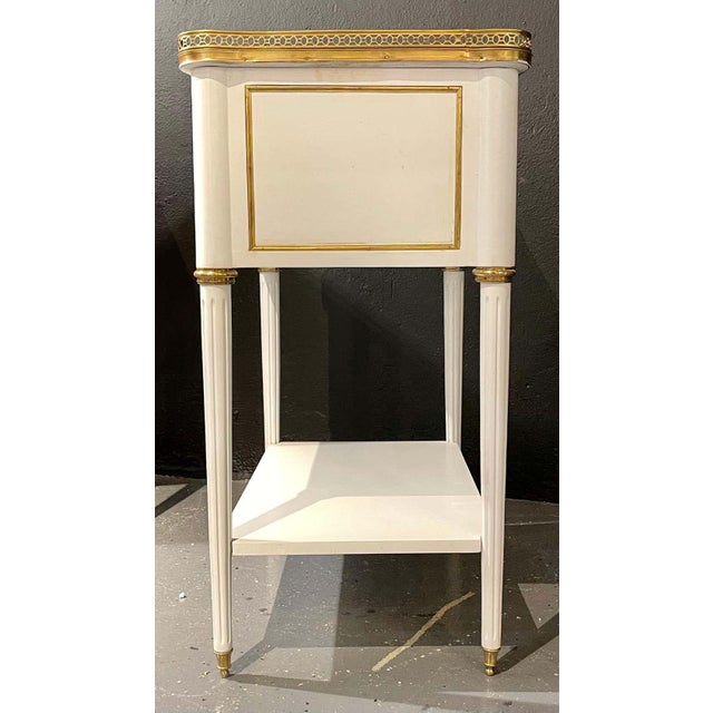 Pair of Swedish Neoclassical Open Nightstands or End Tables Manner Jansen For Sale - Image 9 of 11