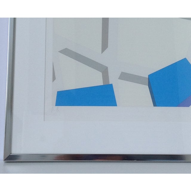 Original Signed Abstract Geometric Lithograph - Image 9 of 11