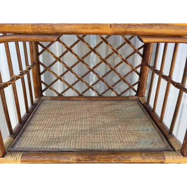 Rattan & Wicker Boho Chic Shelf Unit For Sale In Phoenix - Image 6 of 10