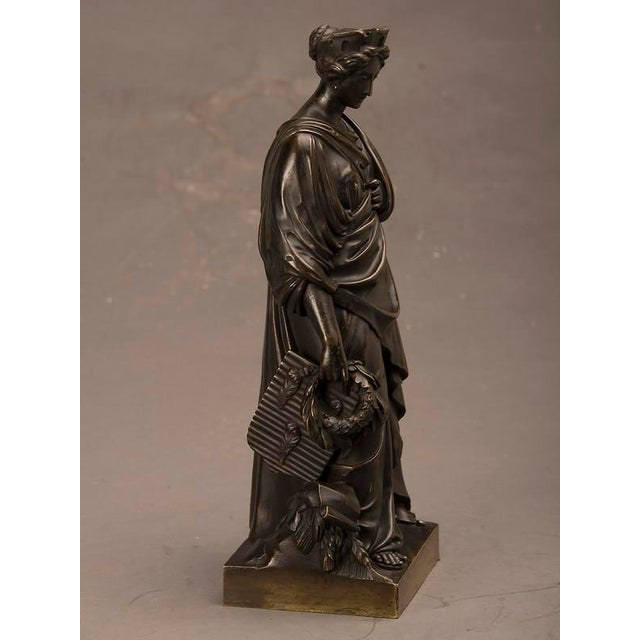 Figurative 19th Century French Bronze Roman Goddess Sculpture of Tyche For Sale - Image 3 of 6
