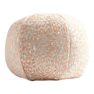 Aldeco Leopard Sphere Pillow in Pink For Sale