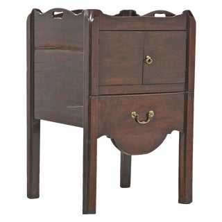 1880s English Chippendale Mahogany Commode