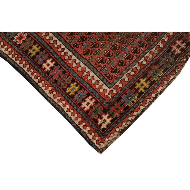 Antique Kurdish Persian Hallway Runner Rug - 3′8″ × 9′ - Image 2 of 4
