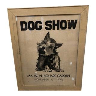 Vintage Dog Show Poster For Sale