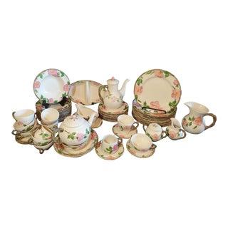 Vintage Franciscan Desert Rose Dinnerware Set Made in England- 64 Pieces For Sale