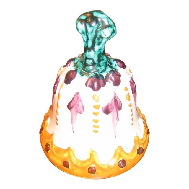 Vintage Italian Ceramic Dinner Bell For Sale