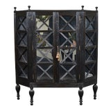 Image of 20th C. Ebony British Colonial 2-Door Display Cabinet For Sale