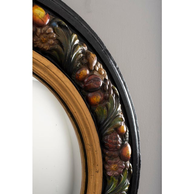 Large Round French Barbola Mirror For Sale - Image 4 of 10
