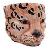 Image of 20th Century Italian Leopard Head Planter For Sale